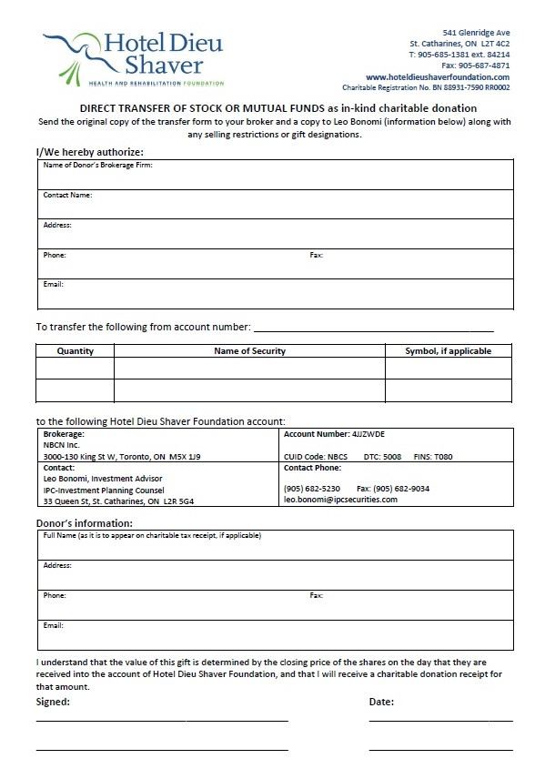 hotel dieu shaver employment application form